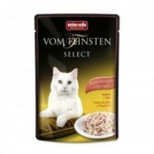 Animonda Vom Feinsten Select Chicken Filet Ham - пауч за котки с пилешко филе и шунка, 85 гр.