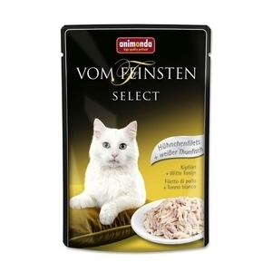 Animonda Vom Feinsten Select Chicken Filet White Tuna - пауч за котки с пилешко филе и риба тон, 85 гр.
