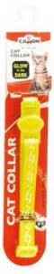Camon Glow нашийник за котки - със звънче, жълт