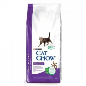 Purina Cat Chow Special Care Hairball Control - суха храна за котки над 12 месеца, против космени топки, 1.5 кг.