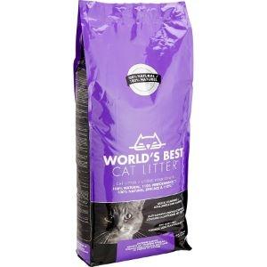 Worlds Best Cat Lavender Scented Multiple cat litter - най добрата тоалетна за Вашият дом, 12.7 кг. / с аромат на лавандула / 1