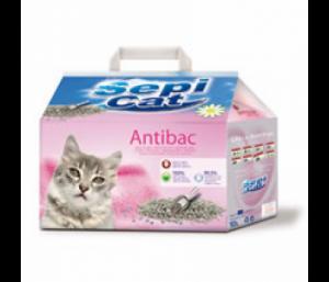 Sepiolsa Sepicat Antibacterial - бентонитова котешка тоалетна с антибактериална добавка, 8 литра