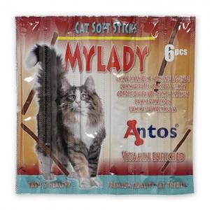 Antos Котешки пръчици My Lady агне и пуйка, 6 бр