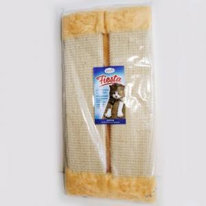 Миазоо Драскалка за котка, за ъгъл с плюш и котешка трева - 51 х 24см, бяла