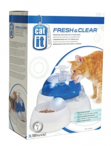 Hagen Catit Фонтан за вода за котки - Drinking Fountain with Food Bowl