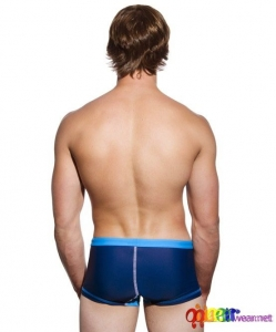 Varsity Trunk in navy color by Andrew Christian 5