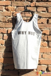 Grey Mens Tank WHY NOT back 1