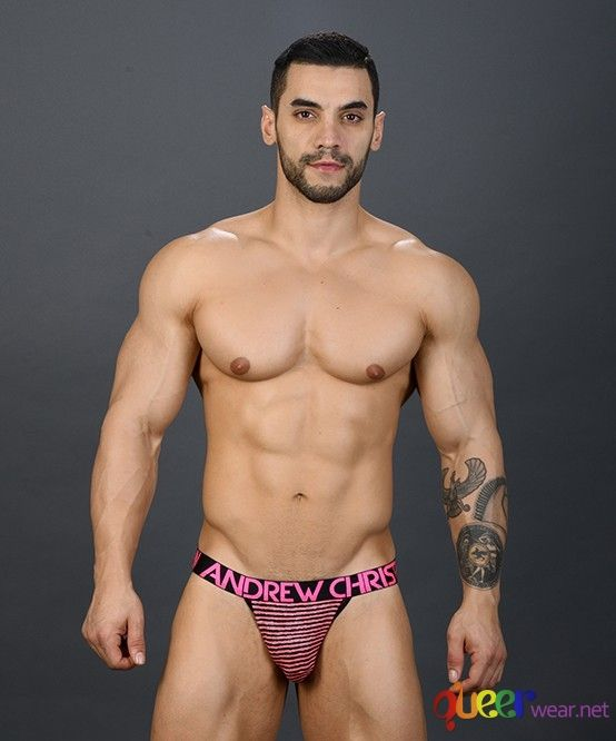 Almost Naked Neon Paradise Stripe Jock 1