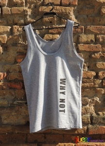 Grey Mens Tank WHY NOT front 1
