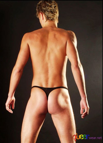 Black Bikini Brief Thongs 3
