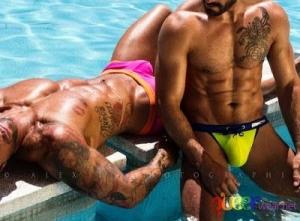 Изрязани Бански плувки SEXY LOW RISE (S) 8