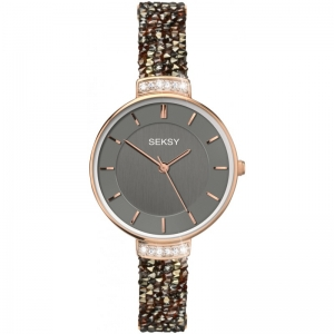 Дамски часовник Seksy Rocks Rose Gold Swarovski - S-2579.37