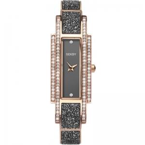 Дамски часовник Seksy Rocks Rose Gold Swarovski - S-2585.37
