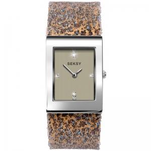 Дамски часовник Seksy Rocks Leopard Print Swarovski Crystals - S-2851.37