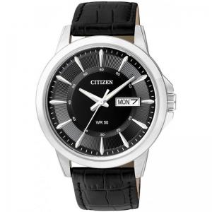 Мъжки часовник CITIZEN Black Dial Black Leather - BF2011-01EE