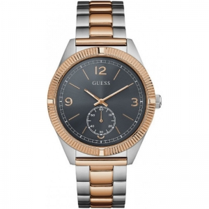 Мъжки часовник Guess Silver Rose Gold Stainless Steel - W0872G2