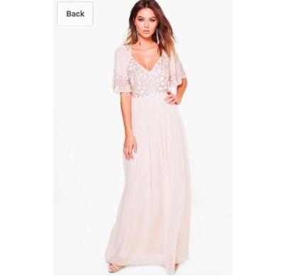 Дълга рокля Bohoo с мъниста 1