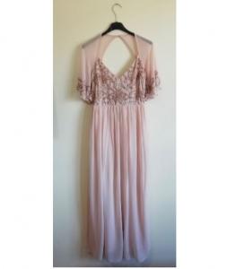 Дълга рокля Bohoo с мъниста 2