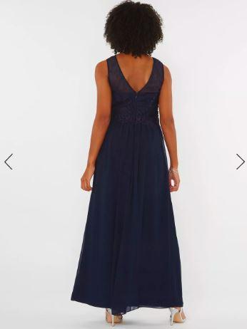 Дълга рокля Dorothy Perkins в тъмно синьо 2