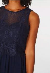 Дълга рокля Dorothy Perkins в тъмно синьо 3
