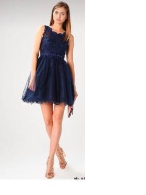 Къса рокля Laona в тъмно синьо 1