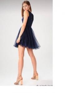 Къса рокля Laona в тъмно синьо 2