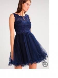 Къса рокля Laona в тъмно синьо 3