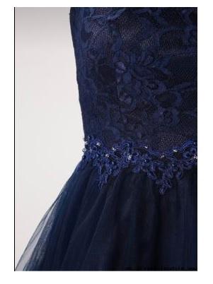 Къса рокля Laona в тъмно синьо 5