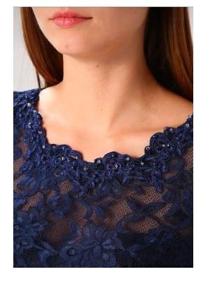Къса рокля Laona в тъмно синьо 6