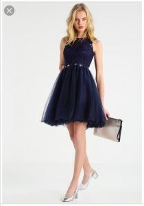 Къса рокля Loana в тъмно синьо 1