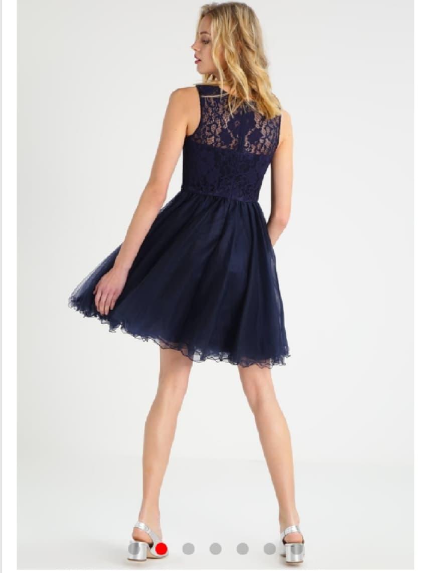 Къса рокля Loana в тъмно синьо 2