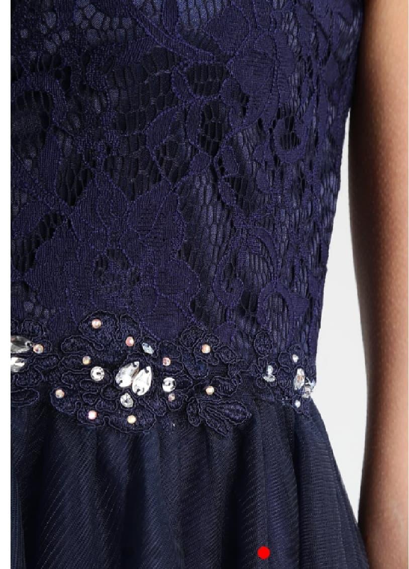 Къса рокля Loana в тъмно синьо 4