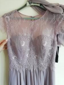 Дълга рокля Limited luxuar с наметало шал 1