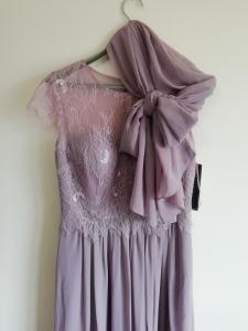Дълга рокля Limited luxuar с наметало шал 2