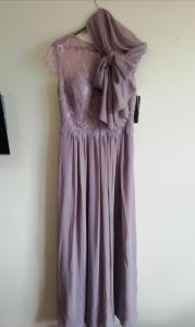 Дълга рокля Limited luxuar с наметало шал 3