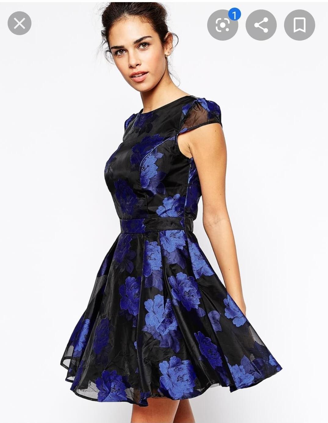 Къса рокля Chi Chi London с цветя