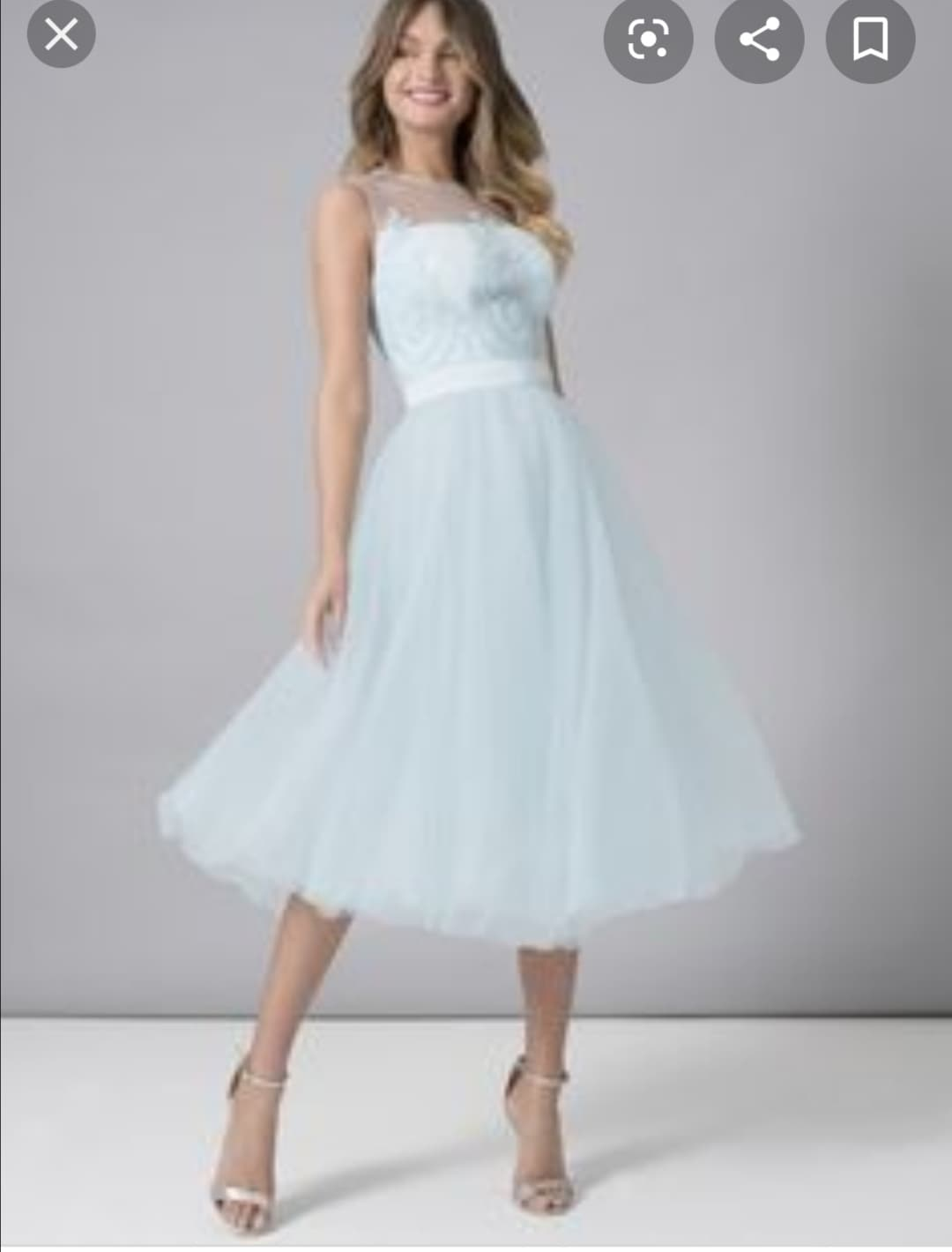 Официална рокля Chi Chi London в небесно синьо