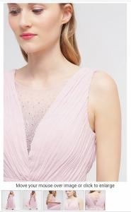 Официална рокля Chi Chi London Curve в розов цвят 2