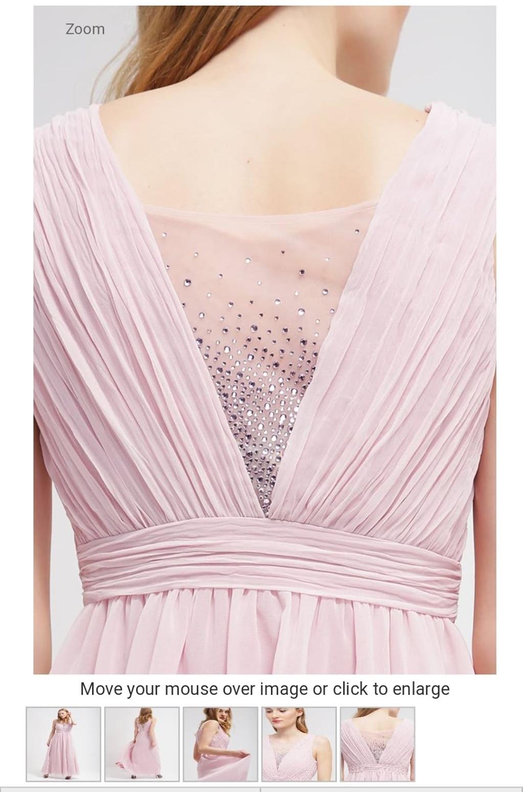 Официална рокля Chi Chi London Curve в розов цвят 3