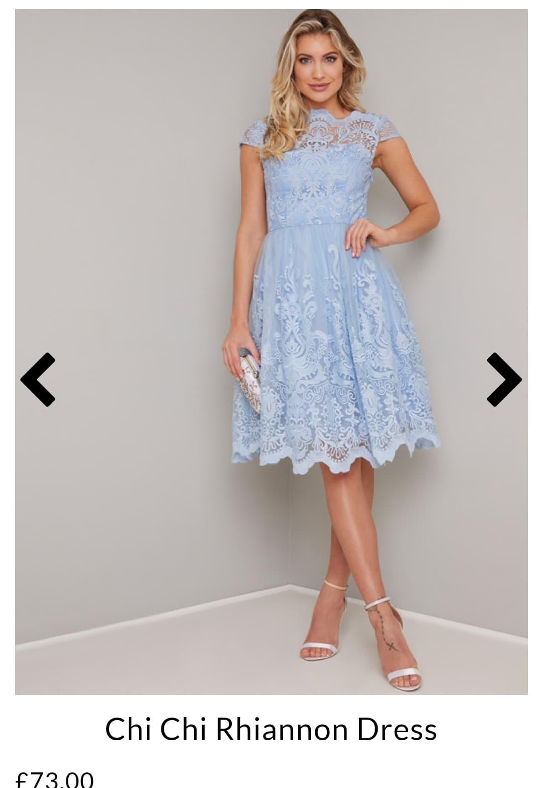 Светло синя къса рокля Chi Chi London  1
