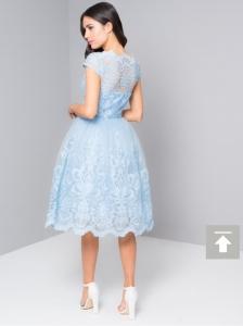 Светло синя къса рокля Chi Chi London  3