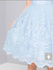 Светло синя къса рокля Chi Chi London  4