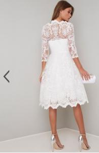 Бяла рокля Chi Chi London Flora  2